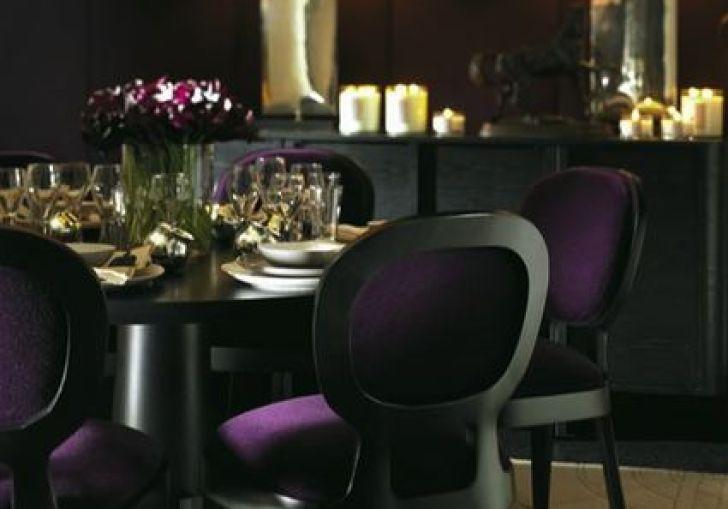 Purple Black Dining Room