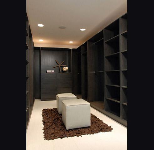 Dark Built In Cabinets  Contemporary  closet  Nicole