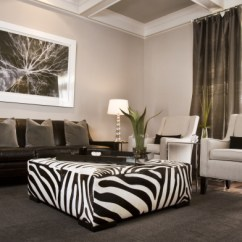 Velvet Grey Tufted Sofa S Sofas Asturias Zebra Ottoman - Contemporary Living Room Sherwin ...