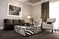 Zebra Ottoman - Contemporary - living room - Sherwin ...