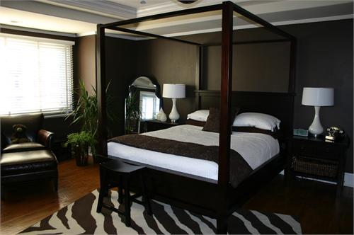 Brown Canopy Bed Contemporary Bedroom HGTV