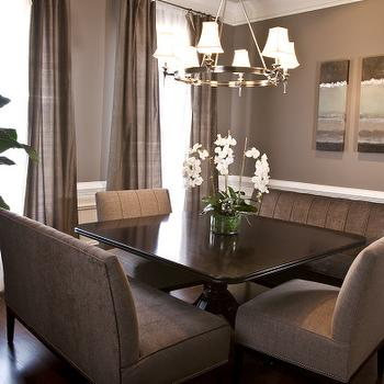 Taupe Wall Paint  Transitional  dining room  Benjamin