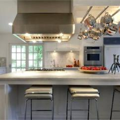 Kitchen Island Sets Wall Mounted Faucets Built In Pot Rack - Contemporary Hgtv