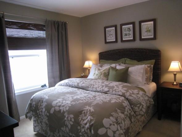 Silver Fox  Cottage  bedroom  Benjamin Moore Silver Fox