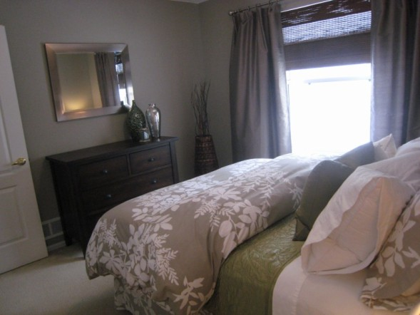 Taupe Silk Curtains Cottage Bedroom Benjamin Moore Silver Fox