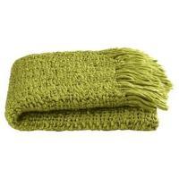 Lime Green Tessuto Throw