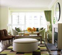 Green and Brown Living Room - Contemporary - living room ...
