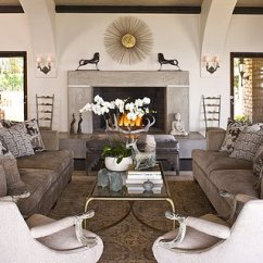 Oversized Recliner Chairs Folding Commode Chair Sofas Facing Each Other - Transitional Living Room