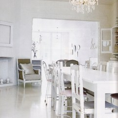 White Distressed Dining Chairs Bubble Chair On Stand Cottage Kitchen