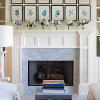 Choose Fabulous Fireplace Mantel Decor Above Closed In Comfy Living Room With Grey Painted Wall