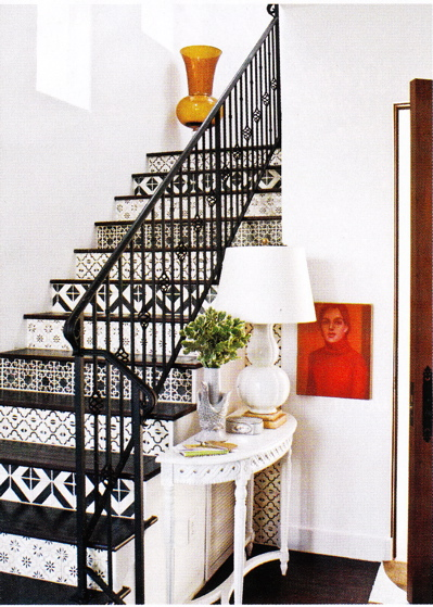 Painted Stair Case  Eclectic  entrancefoyer