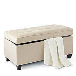 elsa beige storage bed bench
