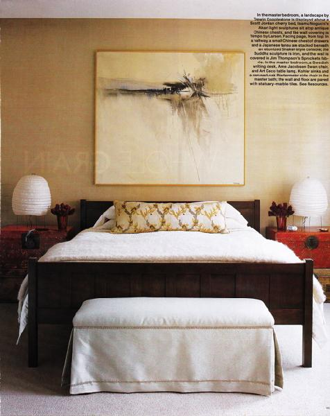 Gold Accent Wall  Transitional  bedroom