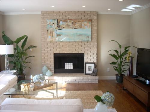 Grant Beige  Contemporary  living room  Benjamin Moore