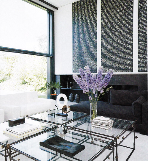 Black Chaise Lounge Contemporary Living Room