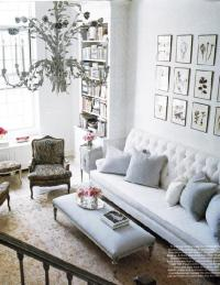White Tufted Sofa - French - living room