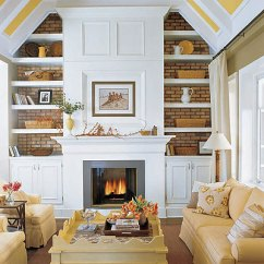 Living Room Fireplace Off Centered White Couch Decorating A Mantle | Stacy Nance Interiors