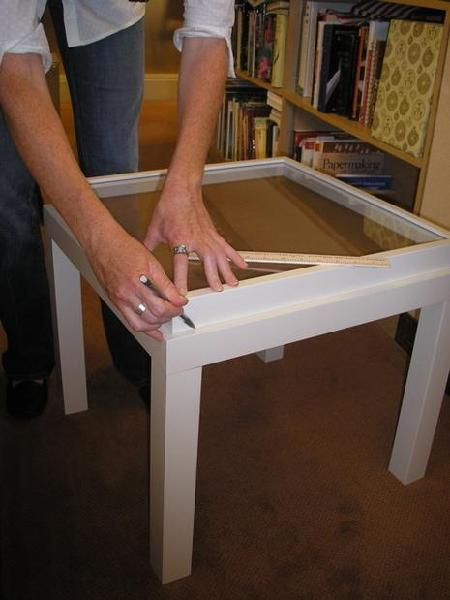 Ikea White Ribba Frame Memory Box Table