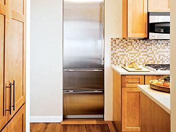 Built In Refrigerator  Contemporary  kitchen