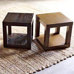 Black Parsons Chair Leather Glider Brown Cube Side Table