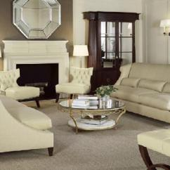 How To Decorate My Living Room With Black Sofas Mexican Pine Furniture Barbara Barry White Tufted