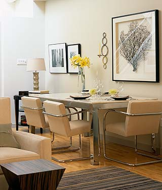Framed Seafan Coral Contemporary Dining Room Sarah