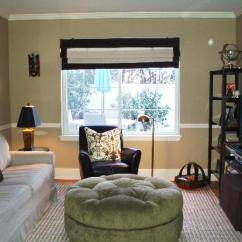 Leather Tufted Chair And Ottoman Inside Hammock Quincy Tan - Transitional Den/library/office Benjamin Moore Teresa Meyer Interiors
