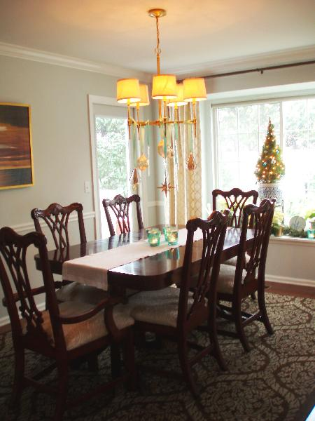 Chippendale Dining Chairs  Transitional  dining room  Teresa Meyer Interiors