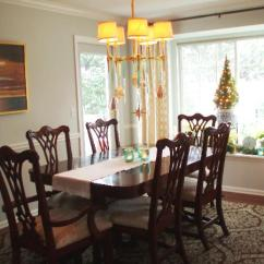 4 Chairs In Living Room How To Decorate My With Brown Sofas Chippendale Dining - Transitional ...
