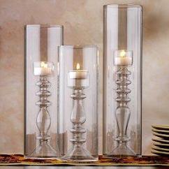 Wallpaper Kitchen Backsplash Black Appliance Packages Calista Clear Glass Cylinder Tea Light Holders