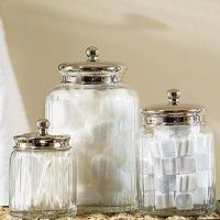 Clear Glass Bath Canisters