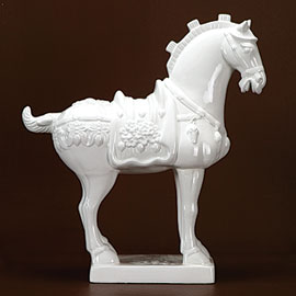 Quirky white ceramic horse