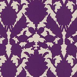 Geometrical Purple And White Fabric