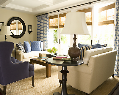 striped wingback chair replacement cushions for wicker chairs navy - transitional living room
