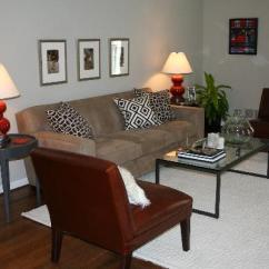 Brown Slipper Chair Wheelchair Repair Kit Red Gourd Lamps - Transitional Living Room Benjamin Moore Grant Beige