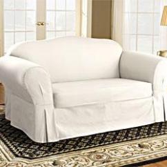 Denim Sectional Sofa Slipcovers Laz Y Boy Bed Cindy Crawford Home Beachside White - Sofas ...