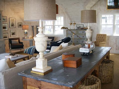 sofa table storage baskets bed single ikea vintage alabaster lamps - cottage living room nate ...