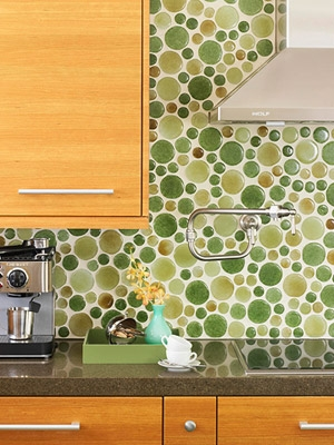 green circles tile