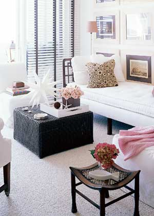 Black Woven Coffee Table  Transitional  living room  BHG