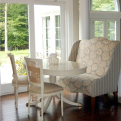 Bertoia Style Chair White Old Metal Chairs Wingback Settee- French - Dining Room Windsor Smith Home