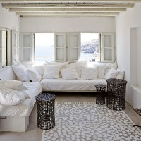Slipcovered Sectionals, Cottage, living room