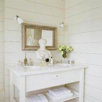 Wood Paneled Bathroom Wall Design Ideas