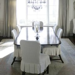 Dining Room Chair Pad Covers Which Suvs Have Captains Chairs Slipcovered - Transitional Phoebe Howard