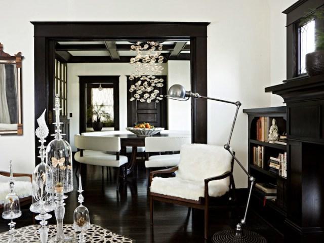 Living Rooms with Dark Wood Floors