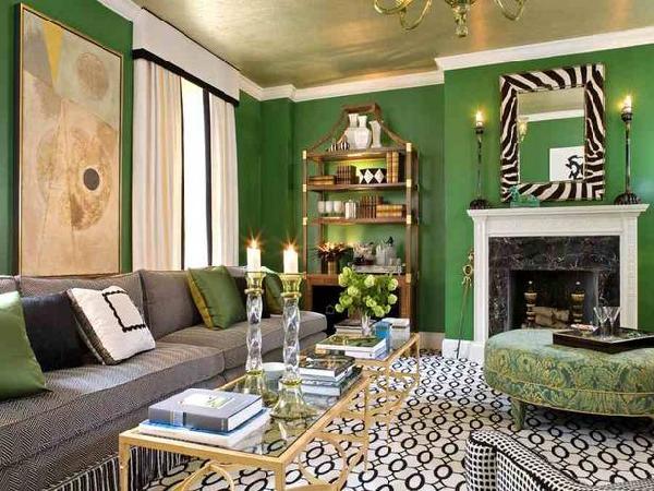 Teen Girl Bedroom One Wall Wallpaper Green Room