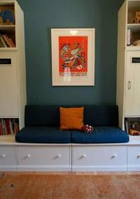 Dark Blue Green Wall Color