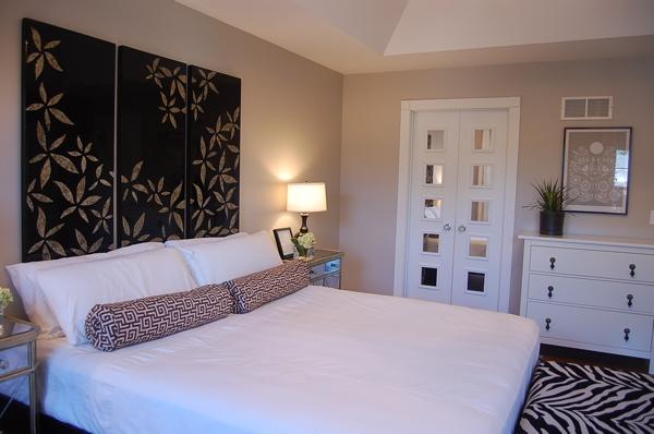 Greige Paint  Eclectic  bedroom  Benjamin Moore Revere Pewter