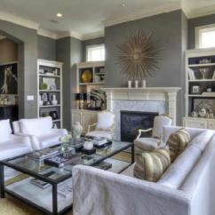 White Slipcovered Sofa Living Room Red And Black Set Transitional