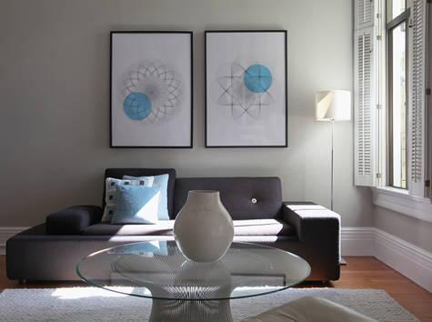 Gray Rooms  Contemporary  living room  Behr Dolphin Fin  Design Sponge