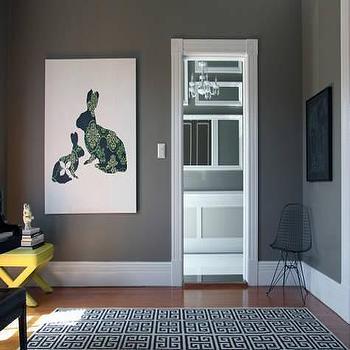 Gray Walls  Contemporary  living room  Behr Squirrel  Design Sponge